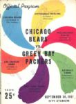 1951 Green Bay Packers vs Chicago Bears Football Program