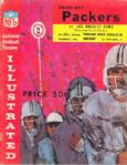 1962 Green Bay Packers vs Los Angeles Rams Football Program
