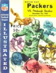 1963 Green Bay Packers vs Pittsburgh Steelers Football Program