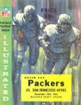 1963 Green Bay Packers vs San Francisco 49ers Football Program