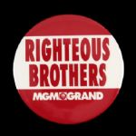 "1990s Righteous Brothers MGM Grand 2 7/8"" Pinback Button"