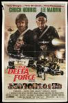 "1986 Delta Force (27"" x 41"") Original Movie Poster Chuck Norris Lee Marvin"