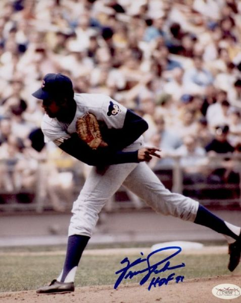 1966-73 Chicago Cubs Fergie Jenkins Autographed 8x10 Photo JSA Basic Cert