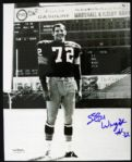 1964-67 Green Bay Packers Steve Wright Signed 8 x 10 Photo JSA Hologram
