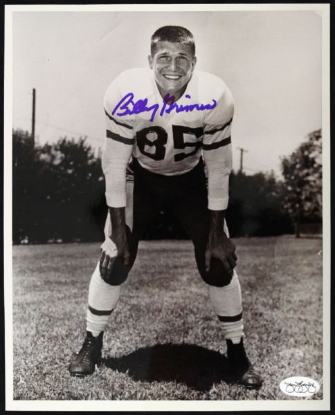 1950-52 Billy Grimes Packers Signed Auto 8 x 10 Photo JSA Hologram
