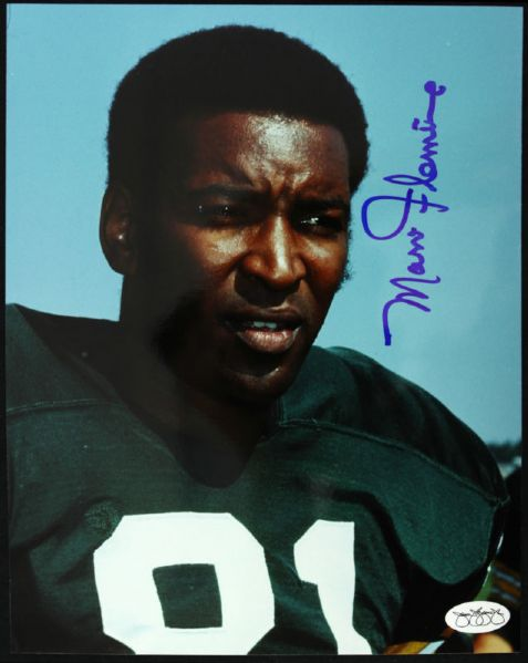 1963-69 Marv Fleming Green Bay Packers Signed 8 x 10 Photo JSA Hologram