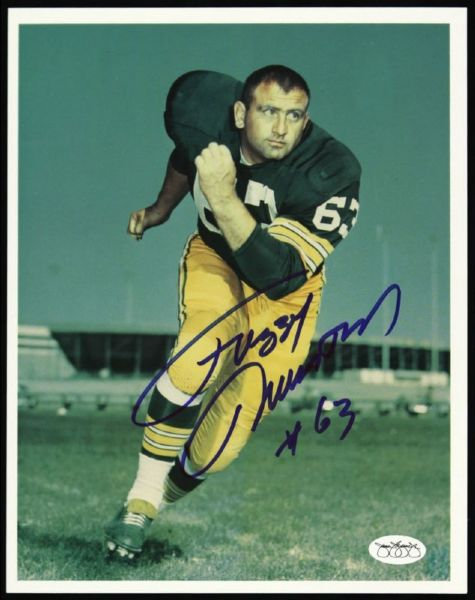 "1952-56 Fred ""Fuzzy"" Thurston Packers Signed 8 x 10 Photo JSA Hologram"