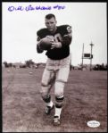 1955-57 Dick Deschaine Packers Signed Autographed B/W 8 x 10 Photo JSA Hologram
