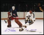 1967-75 Eddie Giacomin New York Rangers Signed Auto Photo 8 x 10 HOF JSA