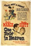 "1941 One Foot in Heaven 27"" x 41"" Original Movie Poster"
