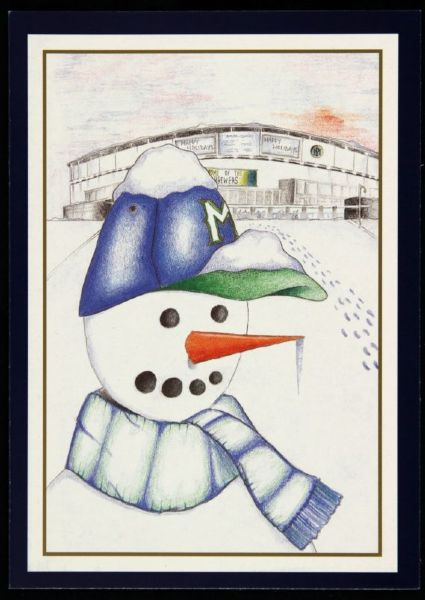 "1999 Milwaukee Brewers 5"" x 7"" Happy Holidays Card"