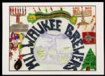 "1990s-2000s Milwaukee Brewers 5"" x 7"" Happy Holidays Card"