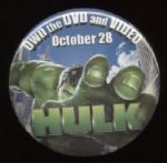 2003 Hulk DVD Promotional Pinback Button