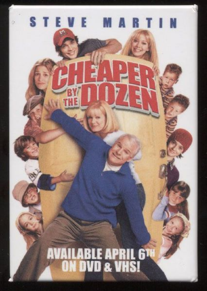 2004 Cheaper by the Dozen Promotional Pinback Button