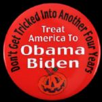 "2008 Treat America To Barack Obama Joe Biden 3"" Campaign Pinback Button"