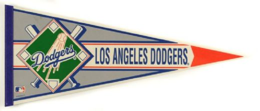"1990s Los Angeles Dodgers Full Size 30"" Pennant"