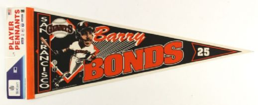 "1990s Barry Bonds San Francisco Giants 30"" Full Size Pennant"