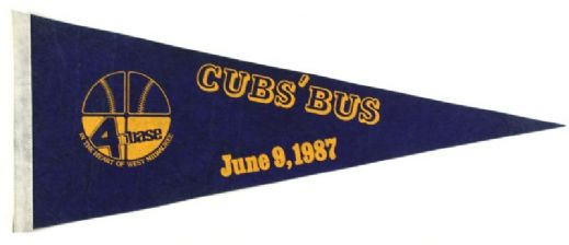 "1987 4th Base West Milwaukee Cubs Bus 30"" Full Size Pennant"