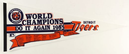 "1984-85 Detroit Tigers Full Size 30"" World Champions Pennant"