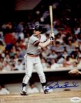 1981-83 Detroit Tigers Rick Leach Autographed 8x10 Color Photo JSA Hologram