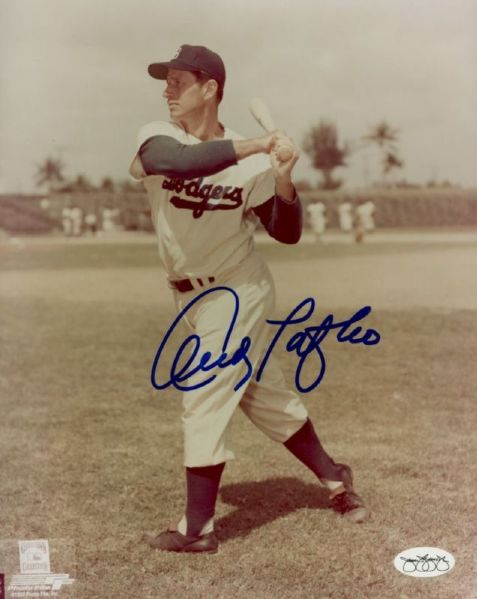1951-52 Brooklyn Dodgers Andy Pafko Autographed 8x10 Photo JSA Hologram