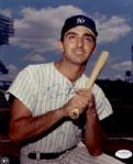 1962-69 New York Yankees Joe Pepitone Auto 8x10 Color Photo JSA Hologram