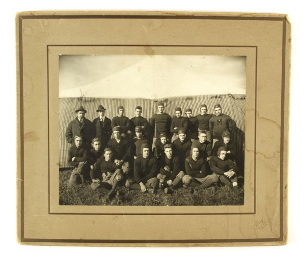 "1930s M.C.I Football 12"" x 14"" Mounted Team Photo"