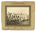"1920s Kingston Ontario 4th Hussars Baseball Club 12"" x 14"" Mounted Team Photo"