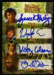 2013 Land of the Lost Complete Cast Signed Card Rick Holly Chaka Will