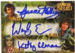 2013 Kathy Coleman Wesley Eure Spencer Milligan Land of the Lost Signed Card