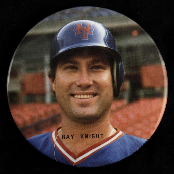 "1984-86 Ray Knight New York Mets 3"" Pinback Button"