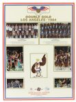 "1984 USA Olympic Basketball 22""x30"" Double Gold Poster Michael Jordan Bob Knight"