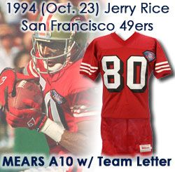 promo code 0a91a 8c4ba Lot Detail - 1994 (October 23) Jerry Rice San Francisco ...