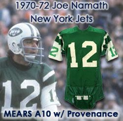 cb3f8cc14b1 ... Joe Namath New York Jets Home Game Worn Jersey w/ Exceptional  Provenance. Touch to zoom