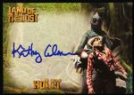 2013 Kathy Coleman Holly w/ Sleestak Land of the Lost Signed Card