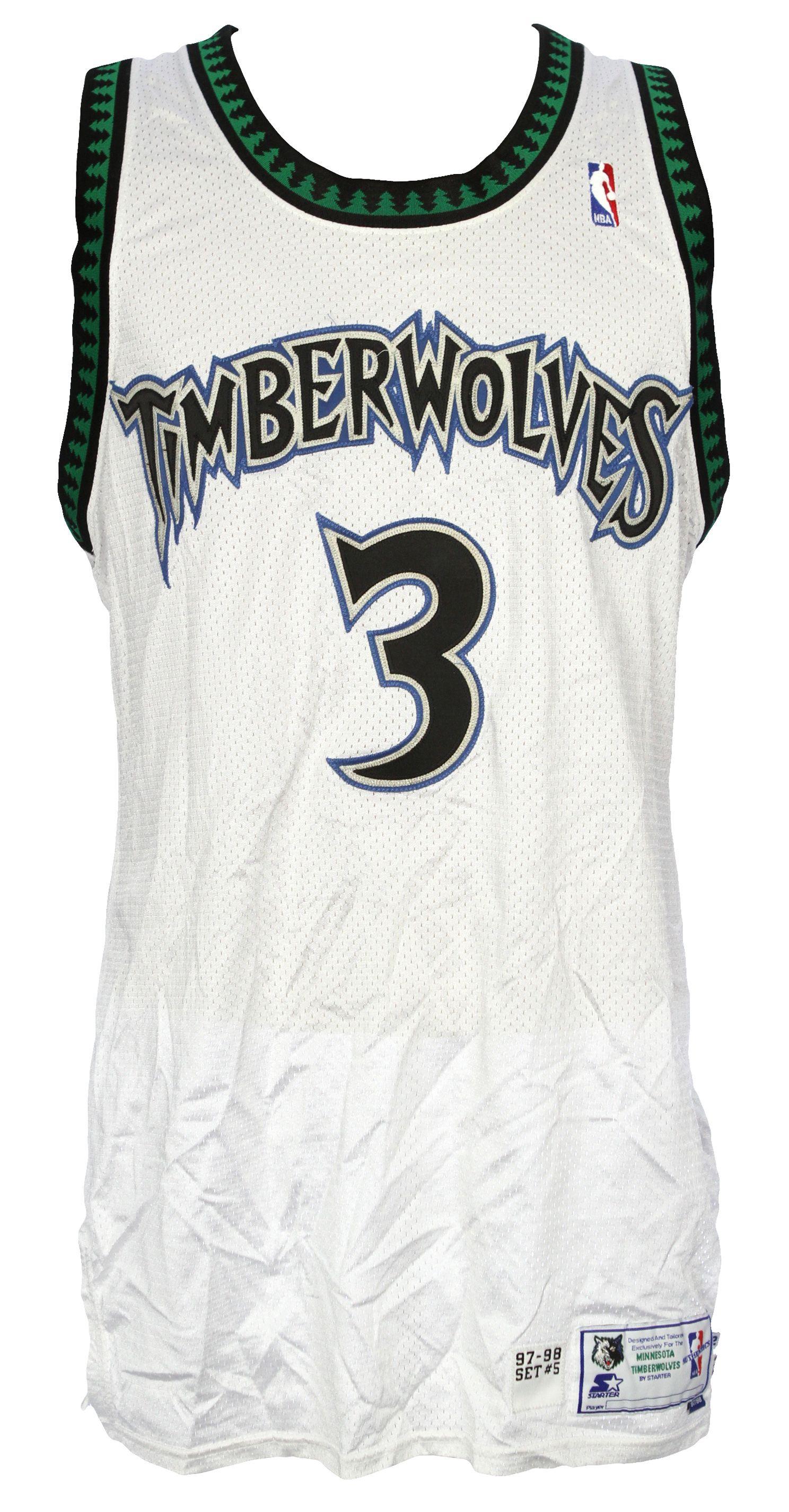 buy popular 3ca10 b7ea0 Lot Detail - 1997-98 Stephon Marbury Minnesota Timberwolves ...
