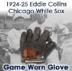 1924-25 Eddie Collins Chicago White Sox Game Worn Signature Model Glove (Attributed To Being Purchased From His Grandson / MEARS LOA)