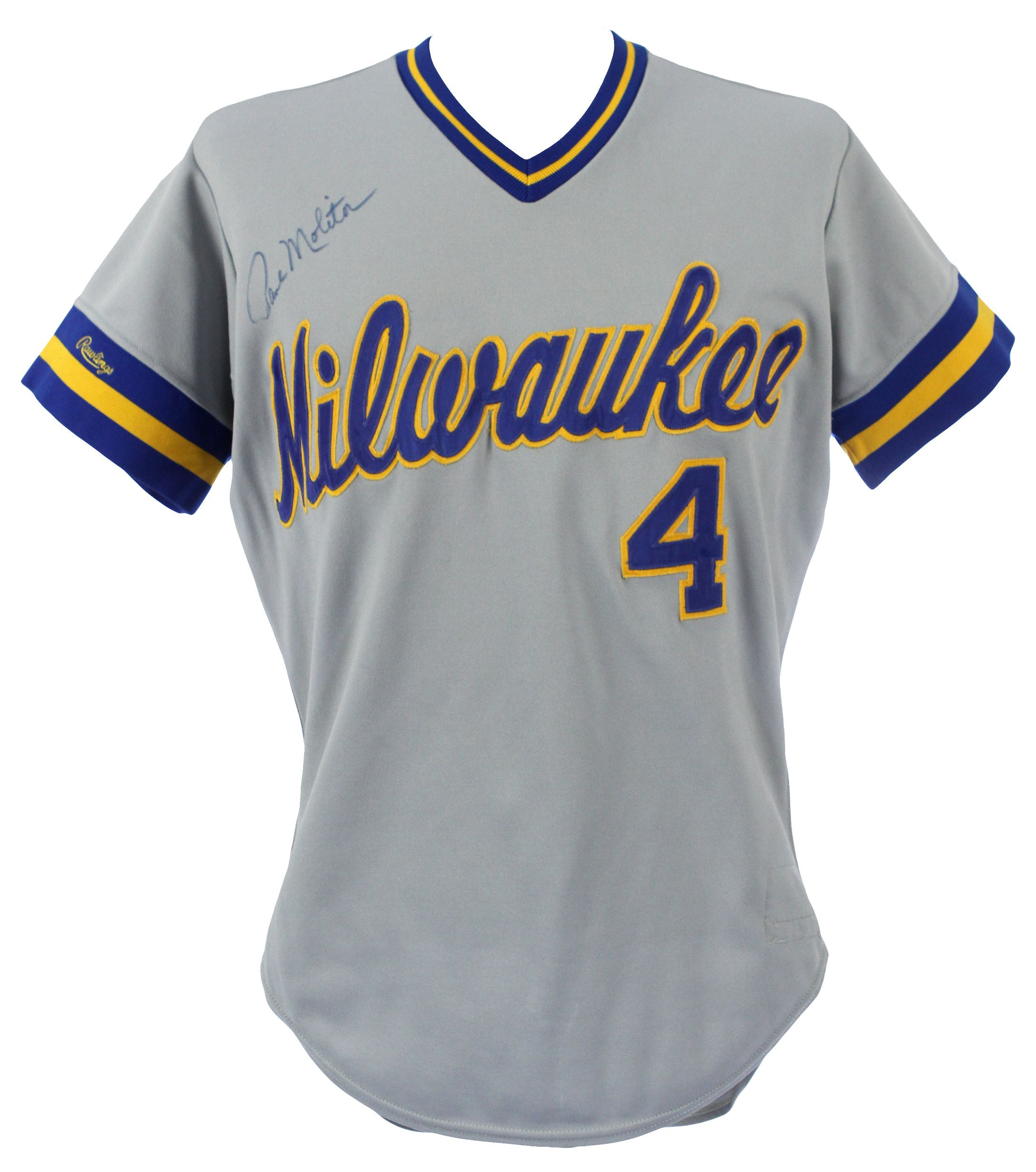 finest selection 0e8c1 d09ae Lot Detail - 1987 Paul Molitor Milwaukee Brewers Signed Game ...