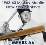 1953-60 Mickey Mantle New York Yankees H&B Louisville Slugger Professional Model Bat (MEARS A6)