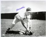 "1954-56 Eddie Mathews Milwaukee Braves ""Concentrating On The Hot Corner"" Frank Stanfield Autographed Original 16x20 Hand Developed Photograph (JSA)"