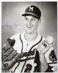 "1954-56 Warren Spahn Milwaukee Braves ""On His Way To 363"" Frank Stanfield Autographed Original 16x20 Hand Developed Photo (JSA) ""Finest Signed Oversized Image Extant!"""