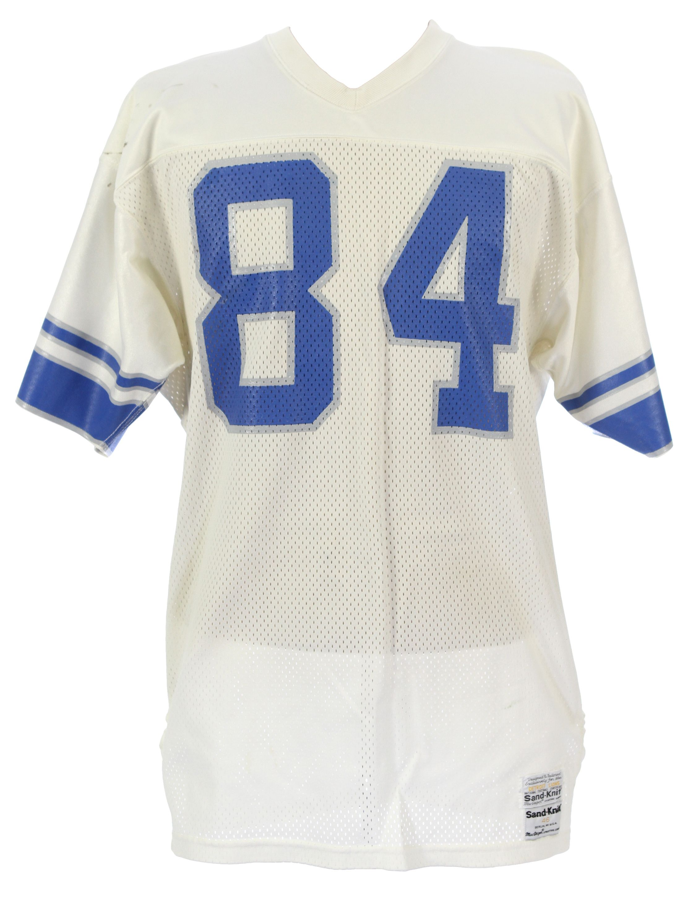 Lot Detail 1985 87 Rob Rubick Detroit Lions Game Worn Road Jersey  for sale usYLInvs
