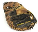 2014 Jonathan Lucroy Milwaukee Brewers Signed Game Worn Catchers Mitt (MEARS LOA/Waukesha Sportscards COA)