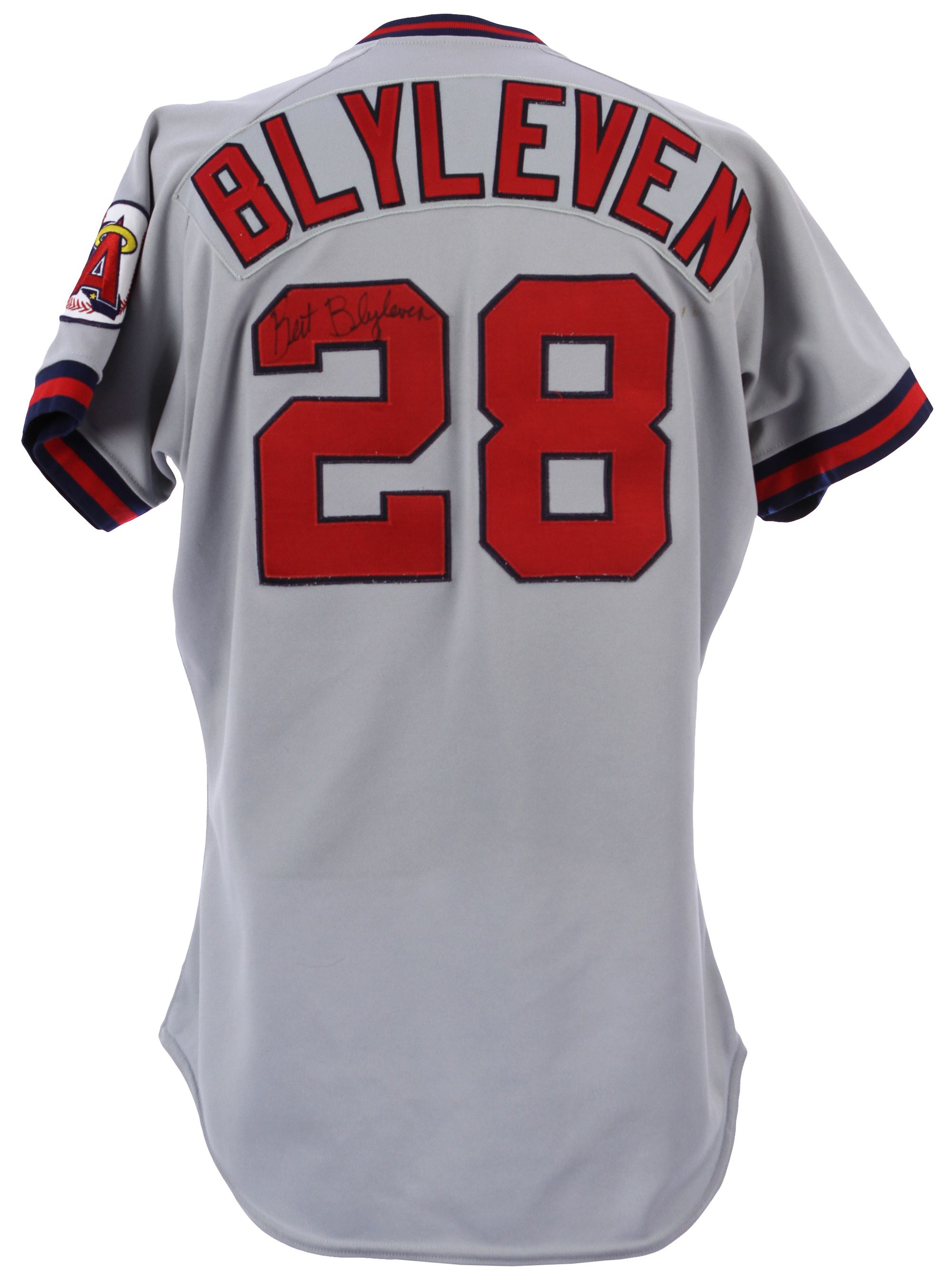 418ef60d512 ... where can i buy lot detail 1990 bert blyleven california angels signed  game worn road jersey