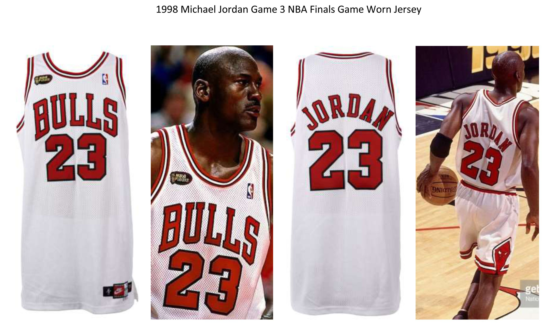 5afef1dde5c Lot Detail - 1998 Michael Jordan Chicago Bulls Game Worn NBA Finals Game 3  Home Jersey (MEARS A10)