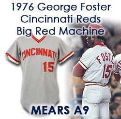 a770effc54e 1976 George Foster Cincinnati Reds Game Worn Road Jersey (MEARS A9)