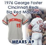 1976 George Foster Cincinnati Reds Game Worn Road Jersey (MEARS A9)