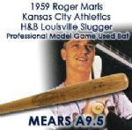 "1959 Roger Maris Kansas City Athletics H&B Louisville Slugger Professional Model Game Used Bat (MEARS A9.5) ""Used Final Season Before Being Traded To Yankees"""