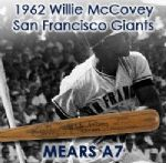 1962 Willie McCovey San Francisco Giants Signed H&B Louisville Slugger Professional Model Game Used Bat (MEARS A7/JSA)