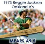"1973 Reggie Jackson Oakland A's Signed Adirondack Professional Model Game Used Bat (MEARS A9.5/JSA) ""Used During His MVP & 2nd World Championship Season"""